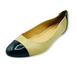 Abella Cadidia Ballet Flats Shoes Black Tan 9